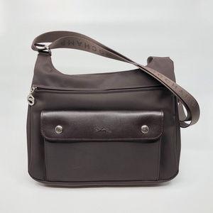 Longchamp Planete Crossbody Shoulder Bag in Brown